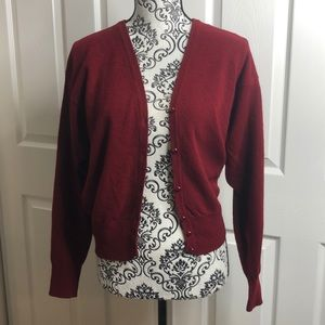 United Colors Of Benetton Italy Red Cardigan M